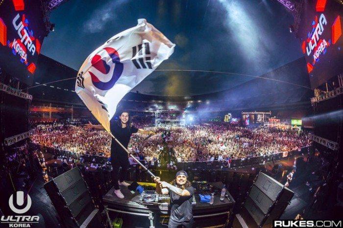 Ultra Korea 2017 - Main DJ with Korea flag